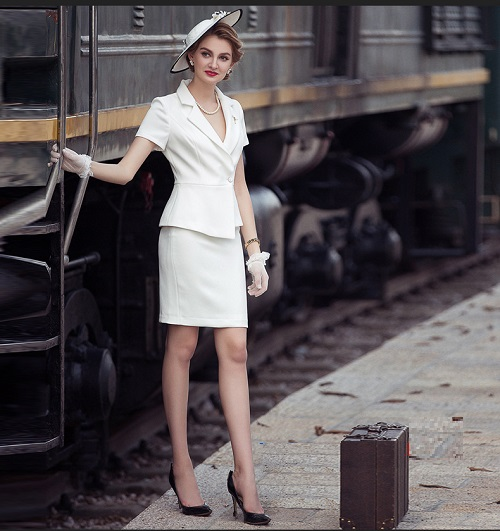 mẫu váy vest công sở đẹp ứng dụng ngay cho chị em 4