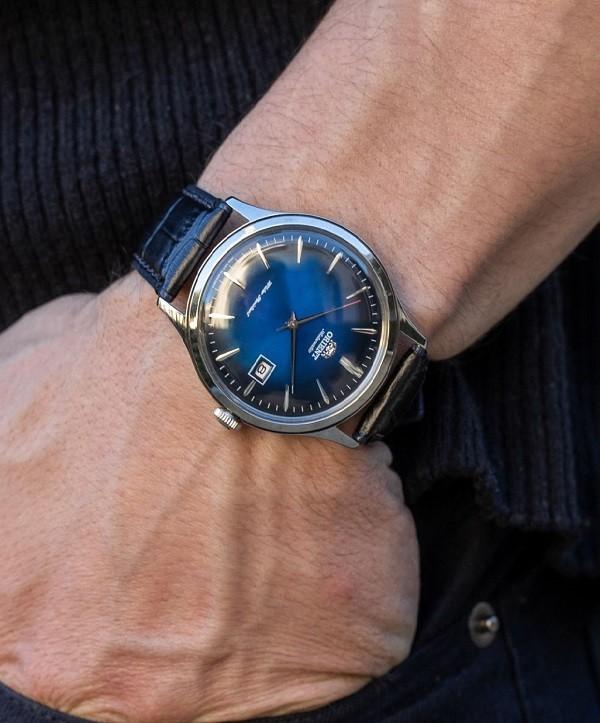 Đồng hồ Orient FAC08004D0 mặt xanh ấn tượng, máy cơ tự động - Ảnh 5