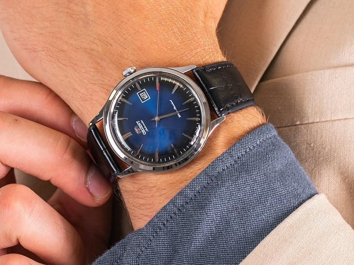 Đồng hồ Orient FAC08004D0 mặt xanh ấn tượng, máy cơ tự động - Ảnh 1