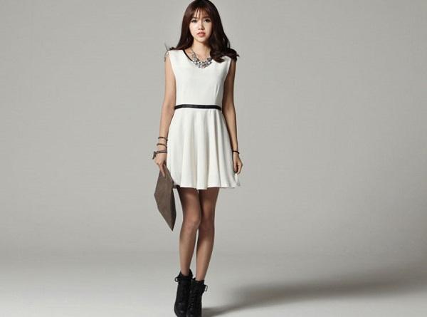 quy tắc cho váy đầm công sở đẹp cho cô nàng chân ngắn 1.2