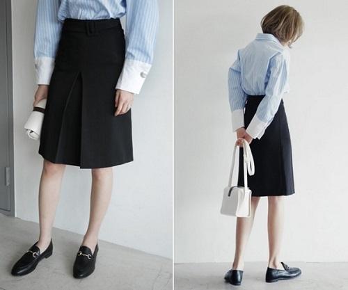 quy tắc cho váy đầm công sở đẹp cho cô nàng chân ngắn 3.2
