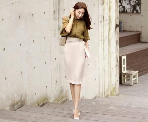 quy tắc cho váy đầm công sở đẹp cho cô nàng chân ngắn 4