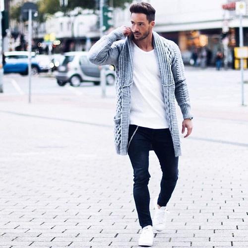 áo khoác cardigan nam nữ len cho mùa đông ấm áp hơn 3