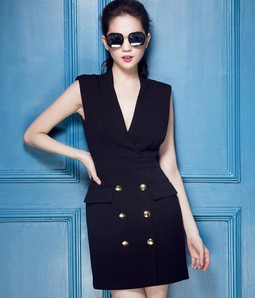 các mẫu đầm vest công sở đẹp nữ cách tân 10