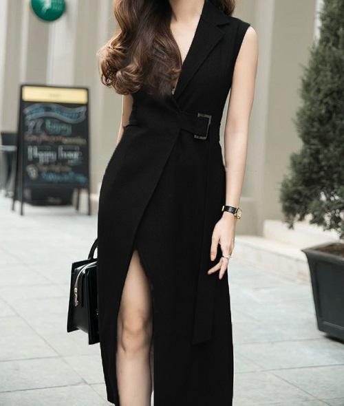 các mẫu đầm vest công sở đẹp nữ cách tân 11