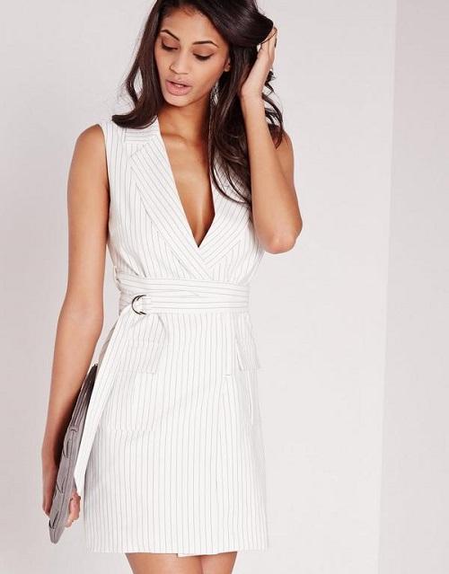 các mẫu đầm vest công sở đẹp nữ cách tân 2