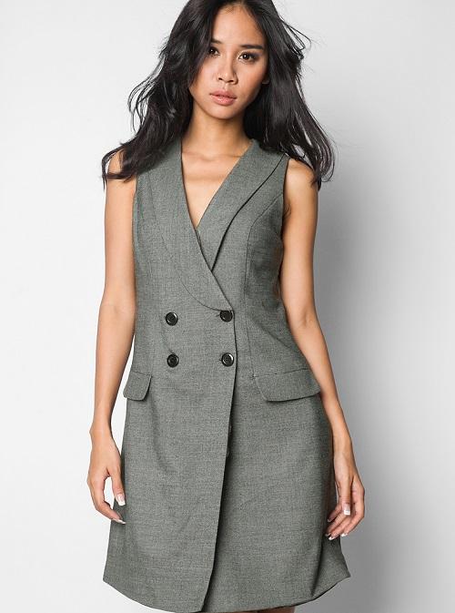 các mẫu đầm vest công sở đẹp nữ cách tân 3