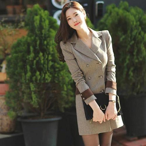 các mẫu đầm vest công sở đẹp nữ cách tân 4