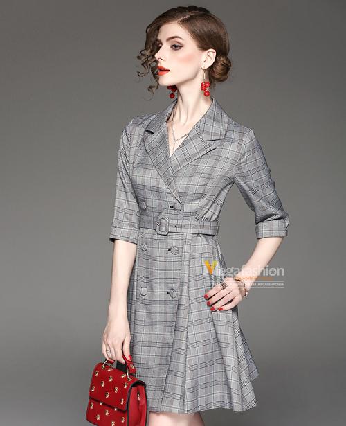 các mẫu đầm vest công sở đẹp nữ cách tân 7