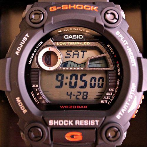Cách Dùng Chức Năng Thủy Triều Đồng Hồ Casio G-Shock G-7900 Hiển Thị