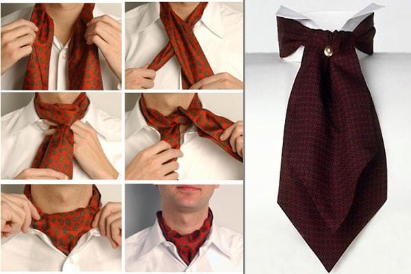 cách thắt phụ kiện thời trang nam cà vạt ascot 1