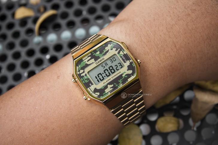 Đồng hồ Casio A168WEGC-3DF giá rẻ, free thay pin trọn đời - Ảnh 1