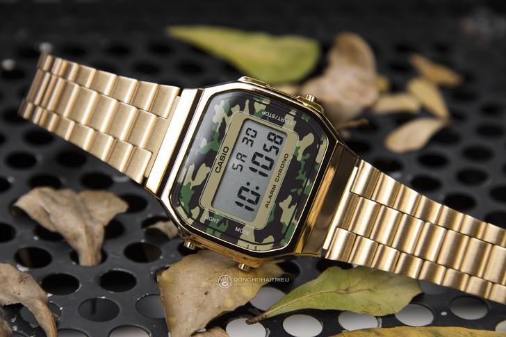 Đồng hồ Casio A168WEGC-3DF giá rẻ, free thay pin trọn đời - Ảnh 3
