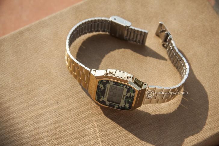 Đồng hồ Casio A168WEGC-3DF giá rẻ, free thay pin trọn đời - Ảnh 5
