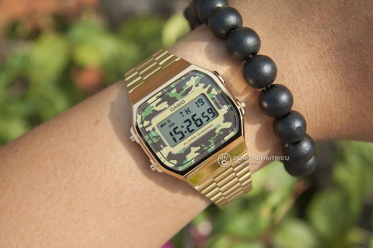 Đồng hồ Casio A168WEGC-3DF giá rẻ, free thay pin trọn đời - Ảnh 6