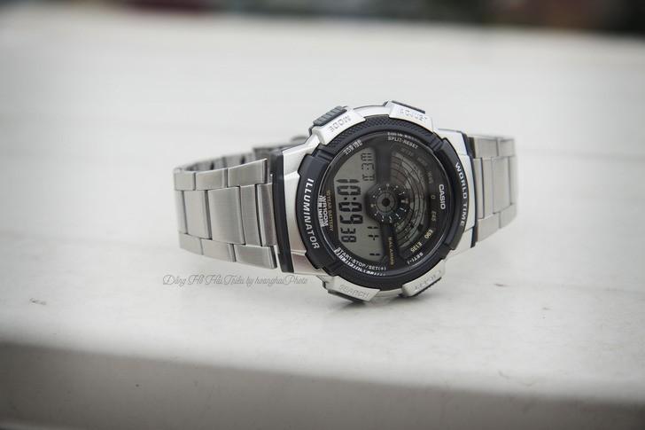 Đồng hồ Casio AE-1100WD-1AVDF giá rẻ, free thay pin trọn đời - Ảnh 1