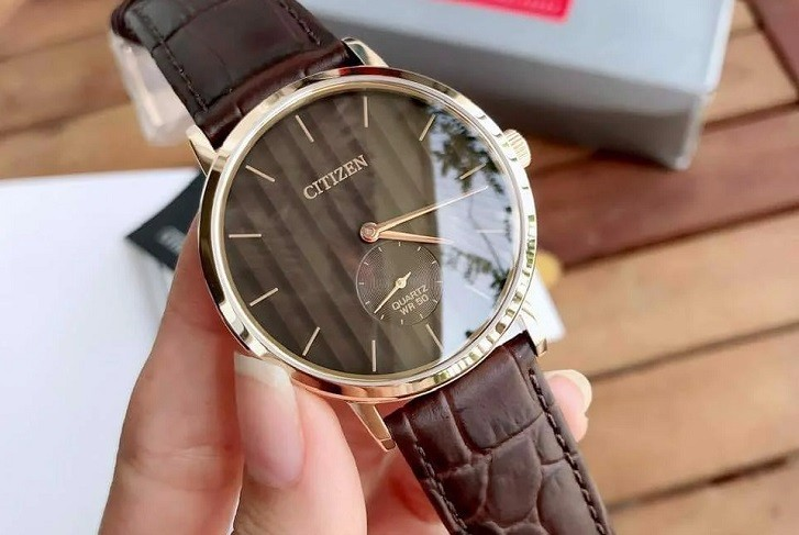 Đồng hồ nam Citizen BE9173-07X dây da lịch lãm, sang trọng - Ảnh 6