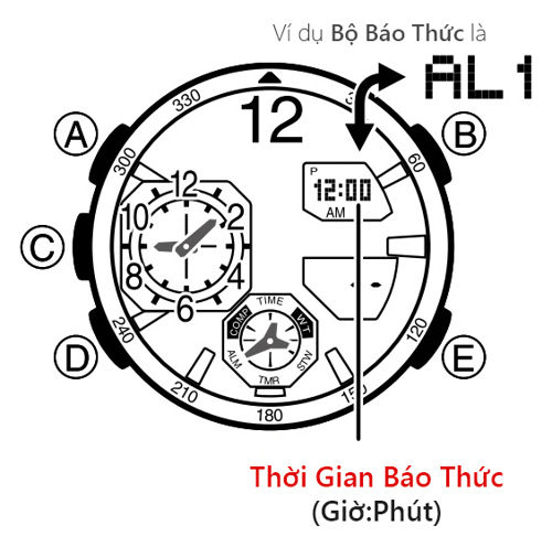 Cách Sử Dụng Chức Năng Báo Thức Đồng Hồ G-Shock GA-1100 ALM MODE