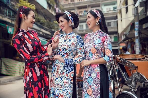 một số mẫu trang phục công sở áo dài 2017 mới nhất 3