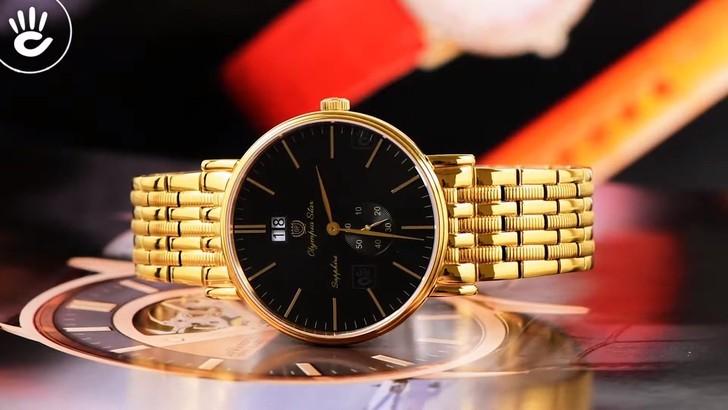 Đồng hồ OP 58070MK-D-04 mạ vàng, kính sapphire chống trầy - Ảnh 1