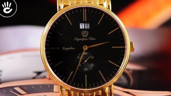 Đồng hồ OP 58070MK-D-04 mạ vàng, kính sapphire chống trầy - Ảnh 2