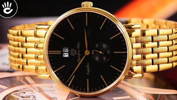 Đồng hồ OP 58070MK-D-04 mạ vàng, kính sapphire chống trầy - Ảnh 7