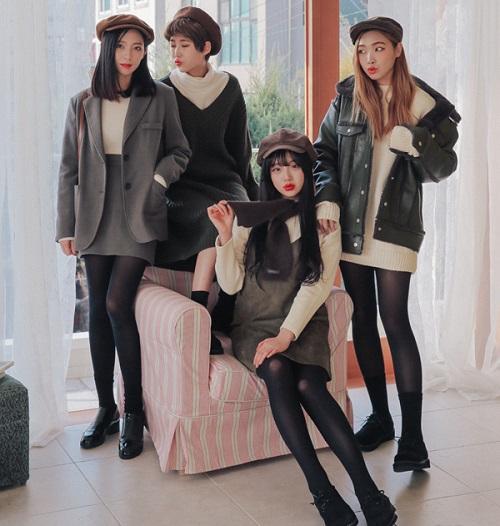 thời trang công sở nữ hàn quốc vào mùa đông 10