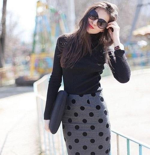 thời trang công sở nữ hàn quốc vào mùa đông 5