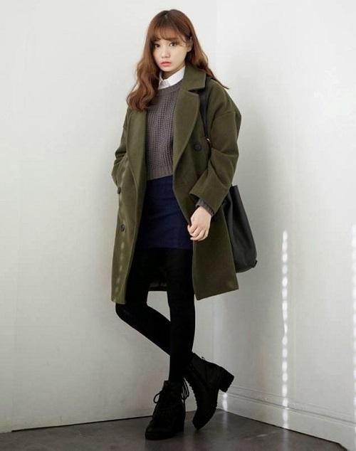 thời trang công sở nữ hàn quốc vào mùa đông 8