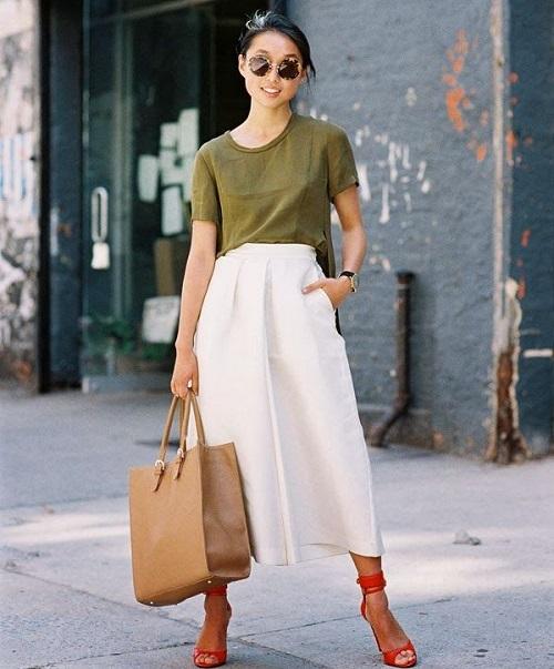 5 mẫu áo phông công sở nữ chất nhất có màu gì 8