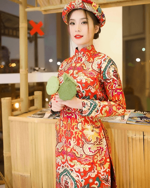 các kiểu vải ưa dùng cho mẫu áo dài tết năm nay 3