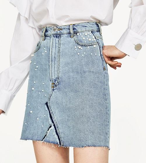 các loại chân váy jeans công sở hot nhất 2