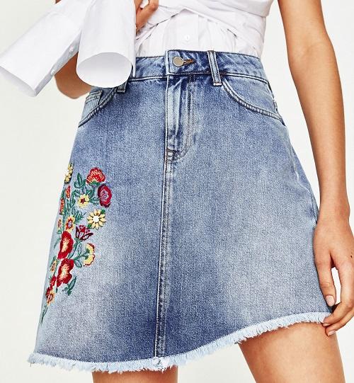 các loại chân váy jeans công sở hot nhất 4