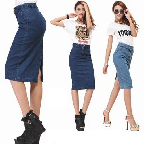 các loại chân váy jeans công sở hot nhất 5