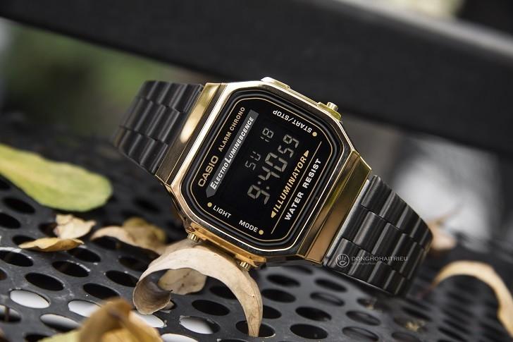 Đồng hồ nam Casio A168WEGB-1BDF thay pin miễn phí trọn đời - Ảnh 1