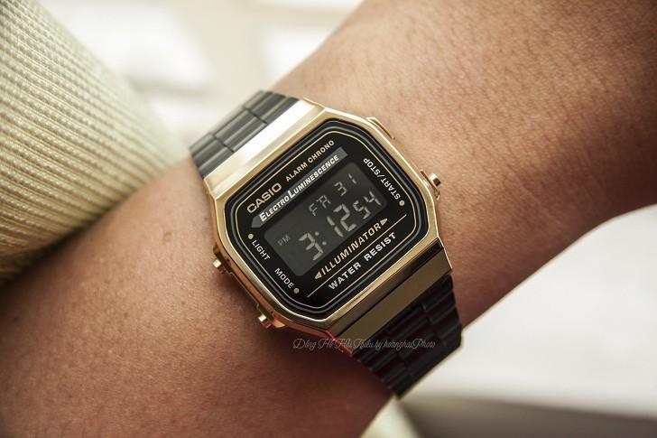 Đồng hồ nam Casio A168WEGB-1BDF thay pin miễn phí trọn đời - Ảnh 2