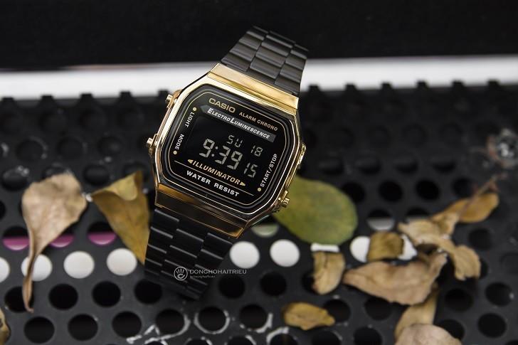 Đồng hồ nam Casio A168WEGB-1BDF thay pin miễn phí trọn đời - Ảnh 3