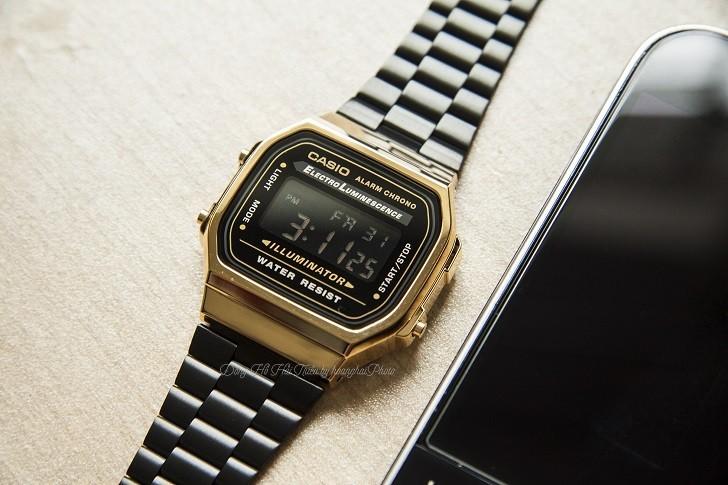 Đồng hồ nam Casio A168WEGB-1BDF thay pin miễn phí trọn đời - Ảnh 4