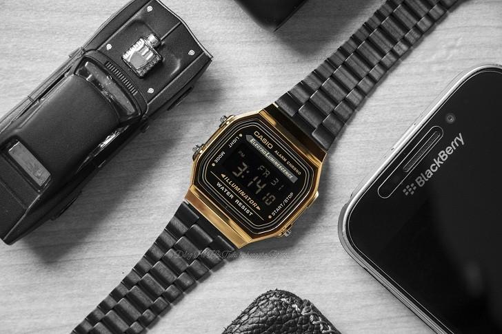 Đồng hồ nam Casio A168WEGB-1BDF thay pin miễn phí trọn đời - Ảnh 6