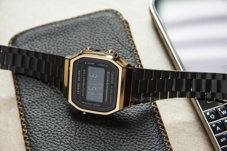 Đồng hồ nam Casio A168WEGB-1BDF thay pin miễn phí trọn đời - Ảnh 7