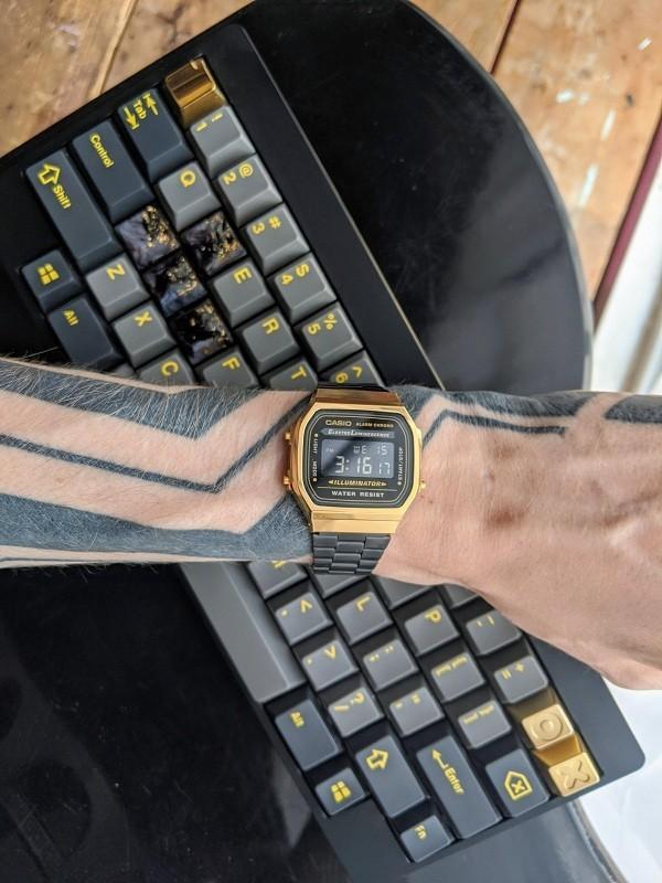 Đồng hồ nam Casio A168WEGB-1BDF thay pin miễn phí trọn đời - Ảnh 8