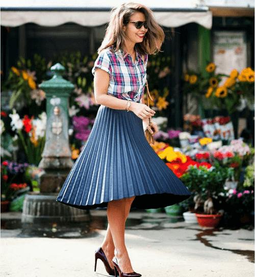 đa dạng kiểu chân váy jeans công sở cho phụ nữ 1