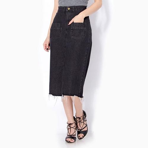 đa dạng kiểu chân váy jeans công sở cho phụ nữ 2