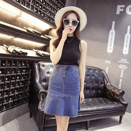 đa dạng kiểu chân váy jeans công sở cho phụ nữ 3
