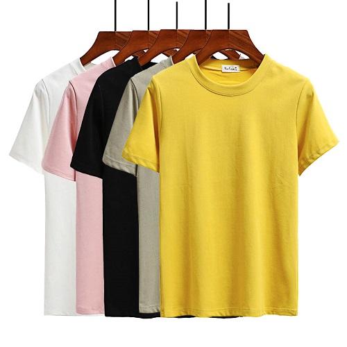 phong cách mẫu áo phông công sở nữ biến đổi 1