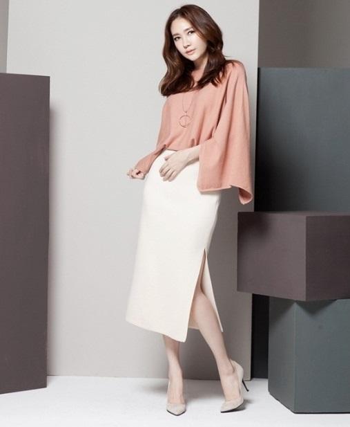 sự sáng tạo của váy công sở dáng dài cho phụ nữ 4