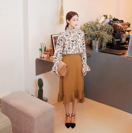 sự sáng tạo của váy công sở dáng dài cho phụ nữ 5