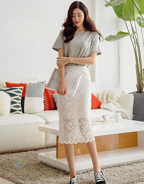 sự sáng tạo của váy công sở dáng dài cho phụ nữ 7