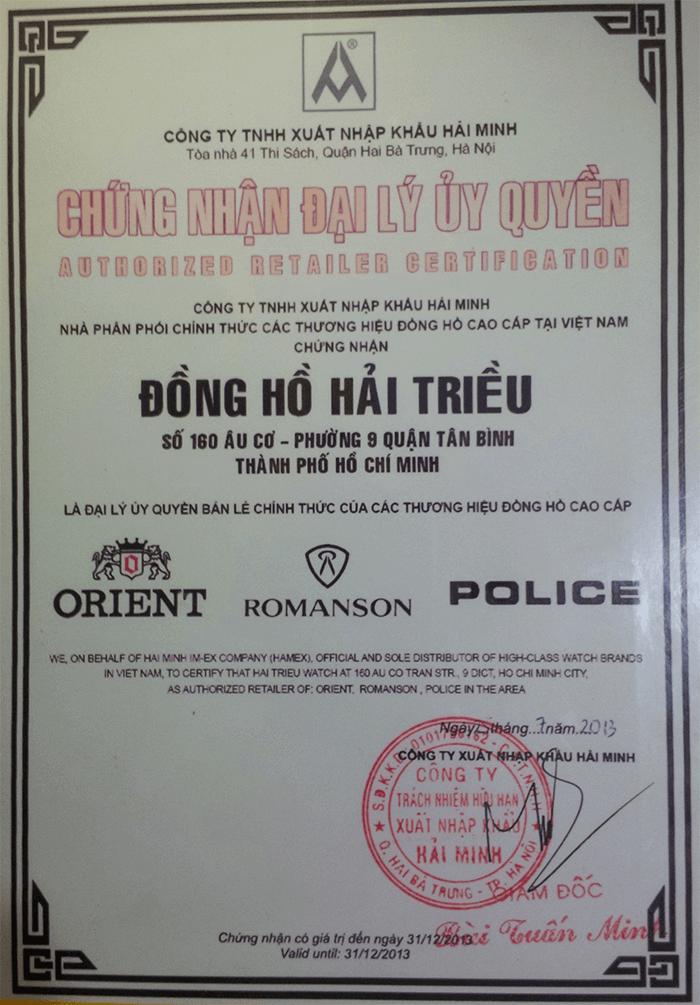 Có 7 Lý Do Vì Sao Nên Mua Đồng Hồ Orient Tại Hải Triều 2013