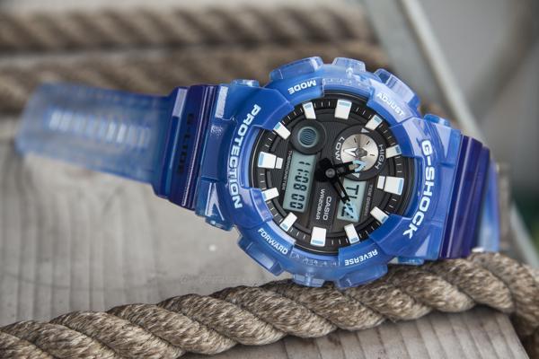 Cách Dùng Đồng Hồ G-Shock GAX-100: Thủy Triều, Moon Data, Nhiệt Kế G-Shock GAX-100MA-2ADR